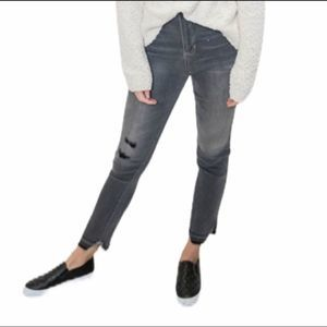 CELLO Gray High Rise Cropped Jeans 3